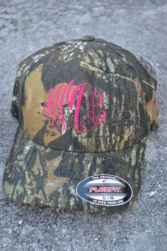 MONOGRAMMED Fitted Camo Baseball Hat Cap - Boy - Custom - Personalized debca4472eb6