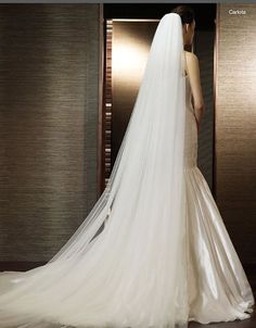 Wedding+Veils | Long Wedding Veil 9 in Elegant Long Wedding Veil on ...