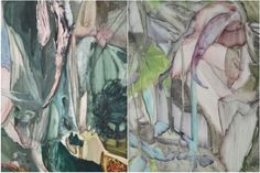 """Gregor Gleiwitz's large scale painting """"Untitled (2011)"""" is characterized by the continual oscillation between the figurative and the nonfigurative. And the more you concentrate on the canvas, the more animal body shapes and landscapes you discover. See detail pictures."""