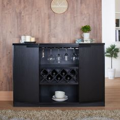 Wine-Rack-Wood-Modern-Bottle-Storage-Bar-Cabinet-Shelf-Buffet-Liquor-Credenza