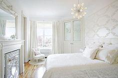 All white room #White #Bedroom #Design