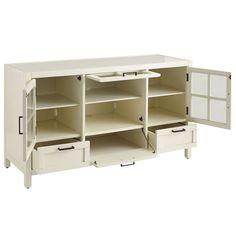 Sausalito Medium TV Stand - White