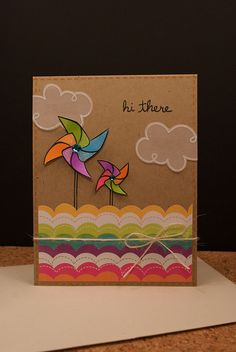 hi there card - diy