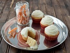 Ricotta Pound Cake Cupcakes with Whipped Ricotta Frosting---Dessert for two Cupcake Flavors, Cupcake Recipes, Baking Recipes, Dessert Recipes, Pound Cake Cupcakes, Baking Cupcakes, Dessert For Two, Eat Dessert First, Ricotta Pound Cake