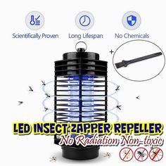 Led Flashlights 100% Quality Lumiparty Portable Insect Mosquito Lamp Light Hand-held Rechargeable Repellent Led Lights Environmentally Friendly Choice Materials Lights & Lighting