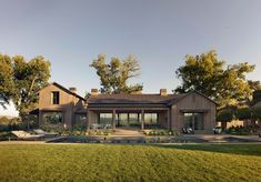 Arcanum Architecture designed this beautiful farmhouse retreat for a couple looking to escape their urban lifestyle, located in Napa Valley, California. Modern Barn House, Modern Farmhouse Exterior, Craftsman Exterior, Modern Ranch, Home Builders, Exterior Design, Future House, Building A House, Architecture Design