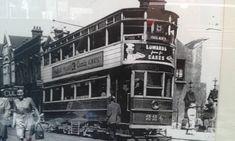 Dunlaoghaire main street Co Dublin circa 1940 Photo Engraving, Dublin City, Busses, Main Street, Old Photos, Trains, Times Square, Emerald, Ireland