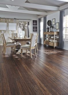 Distressed bamboo is a top pick this fall! Would you use this vintage-inspired style? See more about distressed floors: http://www.lumberliquidators.com/blog/distressed-for-success-2015-fall-flooring-trends/