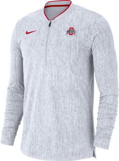 Nike Men s Ohio State Buckeyes Coach Half-Zip Football Sideline White Jacket  Oklahoma Sooners fd9b718dc