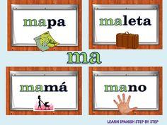 Syllables in Spanish - Sílabas en español- ma me mi mo mu