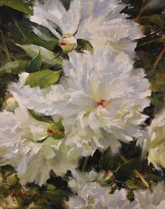Steven Hileman - Peonies- Oil - Painting entry - June 2012   BoldBrush Painting Competition