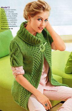 Vest rustic merino wool knitting