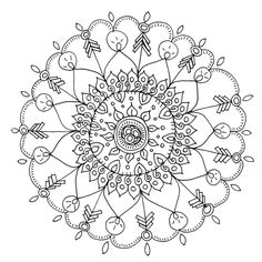 Free Printable Coloring Pages for Adults | Diy craft projects