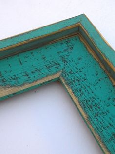 OR OR photo picture frame Colored Barnwood Style Teal with outside cap Rustic Western 3 inches wide wood Barn Wood Picture Frames, Photo Picture Frames, Rustic Wood Furniture, Painted Furniture, Pallet Barn, Wood Poster Frames, My Pool, Wood Clocks, Reclaimed Barn Wood