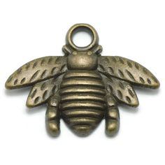 Amazon.com: 20 Bee Charms bronze brass tone insect