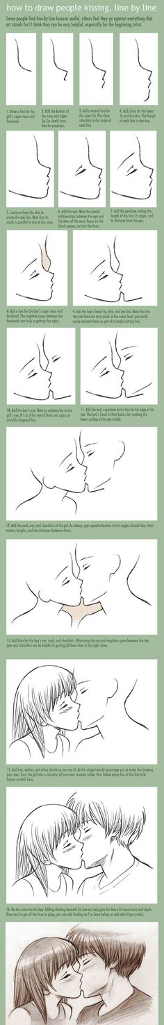 How to draw people kissing. If you draw or want to draw stuff like that_736x4604