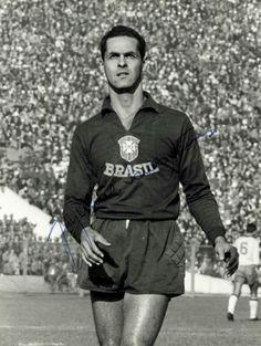 Brazil goalkeeper Gilmar at the 1962 World Cup Finals.