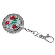Amico Flowers Silver Tone Flower Round Hook Handbag Hanger by Amico. $6.17. Shade : True Red. Color : Reds. Style : standard;Brand : SourcingMap. Material : Metal. Size Type : Regular. Features a non-slip rubber base pad for hook your handbag or purse securely. Compact size, can be folded for easy carry and store. With a Lobster clasp, can be hook it with your keys.