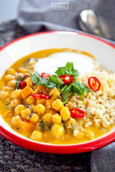 Curry, Cooking Recipes, Healthy Recipes, Chana Masala, Food Porn, Lunch Box, Food And Drink, Healthy Eating, Menu