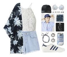 """❁ let's dive into the motel pool // RTD"" by december-berry ❤ liked on Polyvore featuring Topshop, Linda Farrow, adidas Originals, NOVICA and Alexander Wang"