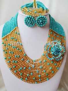 Find More Jewelry Sets Information about Classic! Aqua blue Champagne gold Crystal Beads Nigerian wedding african beads jewelry set bridal jewelry sets AAC224,High Quality jewelry carved,China jewelry mould Suppliers, Cheap jewelry buffer from Alisa's Jewelry DIY Store on Aliexpress.com