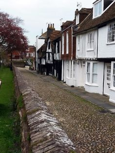 England's Most Medieval Street - the seventeenth century cottages lining Church Street in Rye - East Sussex, England