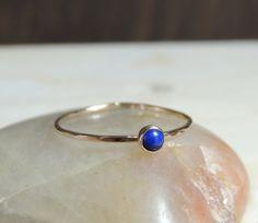Solid 14kt Gold Lapis Lazuli Ring // delicate by NicoleScheetz, $84.67
