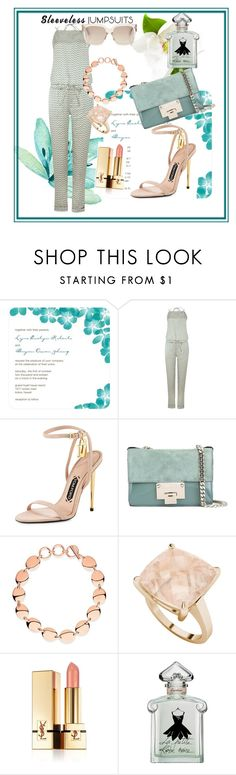 """""""Sans titre #79"""" by samissan ❤ liked on Polyvore featuring LIU•JO, Tom Ford, Jimmy Choo, Links of London, StyleRocks, Yves Saint Laurent, Guerlain and sleevelessjumpsuits"""