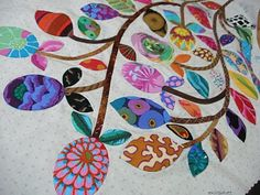 definitely going to start a collection of Kaffe Fassett fabrics for applique--never thought of using them for applique