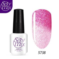 Sexy Mix 2017 High Quality Temperature Color Changing Gel Nail Polish UV Led Long Lasting Gel Nail Polish for Nail Art Design