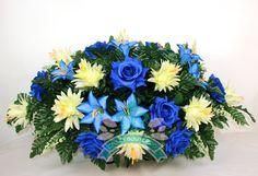 XL Beautiful Spring  Cemetery Tombstone Saddle Arrangement by Crazyboutdeco on Etsy  Stop by my Etsy Shop: www.etsy.com/shop/TeoldDesign