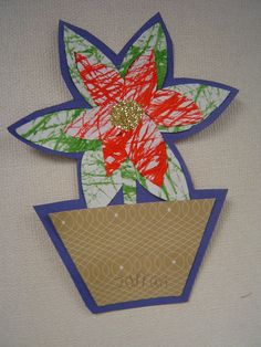 Marble Painted poinsettias from  mrstsfirstgradeclass-jill.blogspot.ca