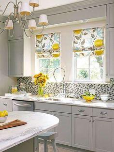Gorgeous Yellow Kitchen Designs Kitchen Yellow And Grey Kitchen Curtains Kitchen Window Design inside Gorgeous Yellow Kitchen Designs Kitchen Decorating, Home Decor Kitchen, Kitchen Interior, Home Kitchens, Decorating Ideas, Decor Ideas, Kitchen Ideas, Window Decorating, Kitchen Tips
