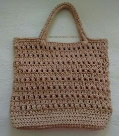 Crochet Tote, Crochet Handbags, Diy Crochet, Crochet Shoulder Bags, Handmade Handbags, Types Of Bag, Market Bag, Knitted Bags, Baby Knitting Patterns