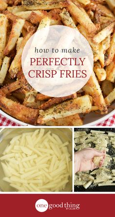 Learn the secret to making perfectly crispy fries in your oven. Plus, get the recipe for my favorite oven-baked Italian fries!
