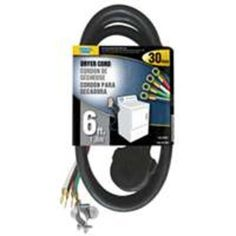 Power Zone ORD100406 Dryer Cord, 6', Black