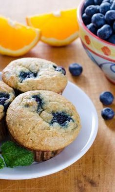 Gluten-free paleo orange blueberry muffins - a quick and easy breakfast!