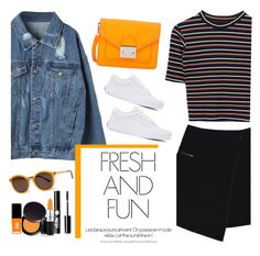 """""""#419"""" by blacksky000 ❤ liked on Polyvore featuring MARC CAIN, Loeffler Randall, Vans, Charlotte Russe, Laura Mercier, MAC Cosmetics, Jin Soon and Thierry Lasry"""