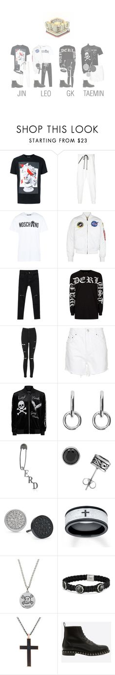 """[Debut Stage] Cherry bomb - Fight!  on Inkigayo"" by cherrybomb-official ❤ liked on Polyvore featuring Neil Barrett, Lost & Found, Moschino, Alpha Industries, Topman, Topshop, Sophie Buhai, Enfants Riches Déprimés, Rhona Sutton and Gucci"