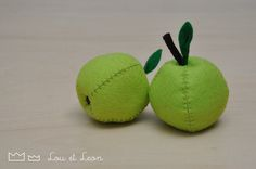 Apple felt food! Download pattern! Do It yourself - diy - for kids or for you!!!!