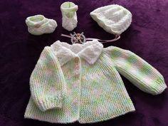 Free Knitting Patterns For Women, Knitting Machine Patterns, Easy Crochet Patterns, Crochet Baby Cardigan Free Pattern, Free Crochet, Knitting Baby Girl, Baby Knits, Knitting Projects, Children