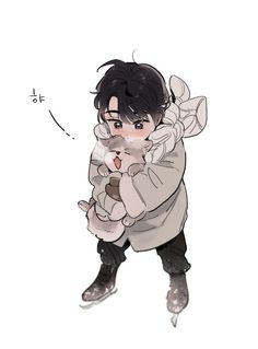 Image uploaded by Find images and videos about anime, yuri on ice and yoi on We Heart It - the app to get lost in what you love. Cute Anime Boy, Anime Guys, Manga Anime, Anime Art, Yuri!!! On Ice, Katsuki Yuri, Shall We Date, Cute Chibi, Boy Art