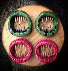 i neeeeeeed these!  Fingertrap Plugs by LeftForDeadDesigns on Etsy, $28.00