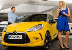 It's the latest Citroen success - a DS to rival the MINI. Just not sure about THIS yellow, that's all...