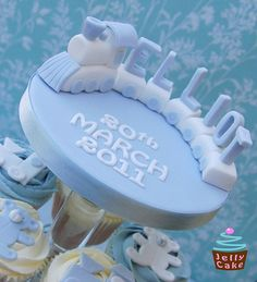 Train Christening Cupcakes by www.jellycake.co.uk, via Flickr