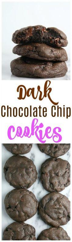 dark chocolate chip cookies recipe