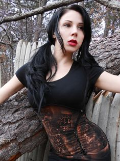 Not a real corset, just a similar look that has 2 bonuses: Comfort and the ability to breathe;-)    Steampunk Lolita Gothic Post Apocalyptic Corset Zombie Top