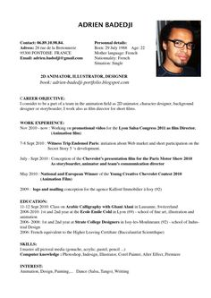 example of academic resumes