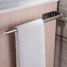 selbstklebend Handtuchstange Bad Zweiarmig Handtuchhalter 50cm mit Haken