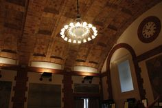 Arched brick ceiling by architect Rafael Guastavino Sr. in the Map Room Cafe of the Boston Public Library